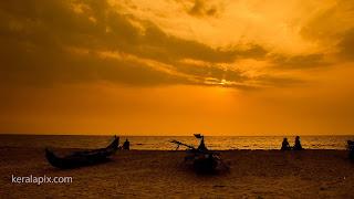 Sunset at Marari beach, Alappuzha