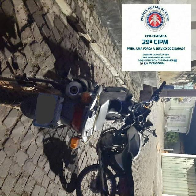 Abaíra/BA: PM localiza duas motocicletas com registro de furto e roubo no distrito de Catolés