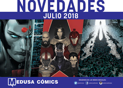 Medusa Cómics anuncia sus lanzamientos de cara a julio de 2018.