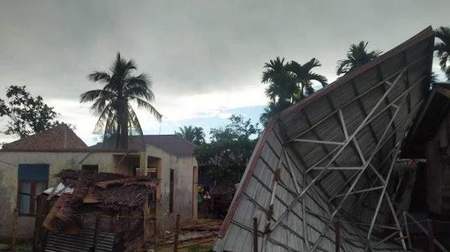 Empat Rumah Warga di Aceh Timur Rusak Berat, Setelah Dihantam Angin Kencang