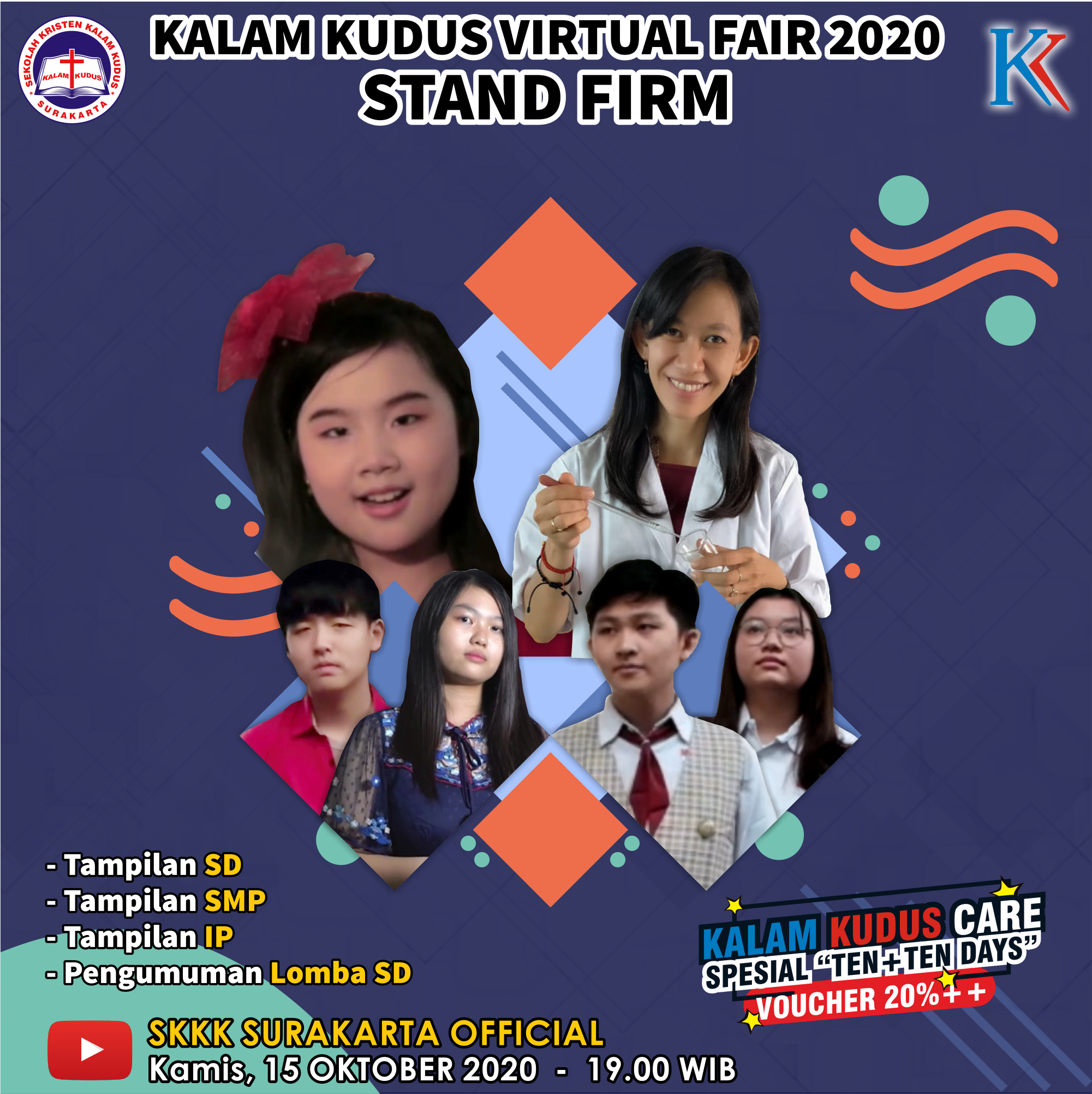 "Kalam Kudus Virtual Fair ""Stand Firm"" - 15 Oktober 2020"