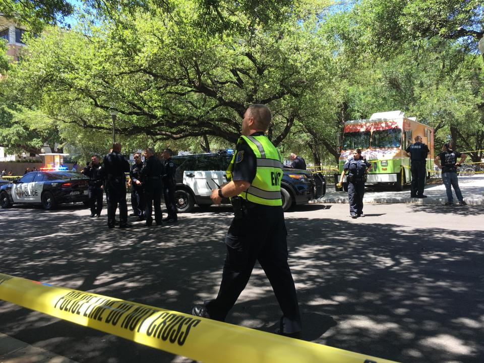 University of Texas stabbing leaves one dead and three injured as knifeman 'rampaged through campus'