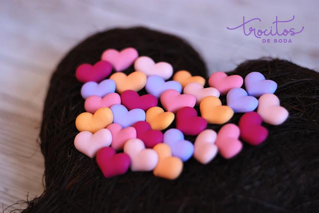 Alfiler de boda de corazon modelo Romantic Trocitos de boda