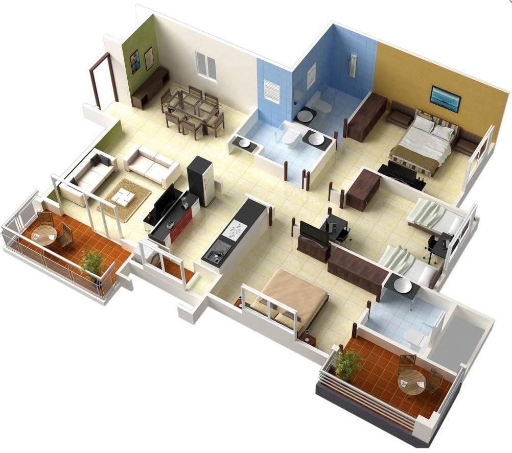 Desain Rumah Minimalis Modern 1 Lantai 4 Kamar Tidur Mediasiana Com Situs Referensi Belajar Masakini