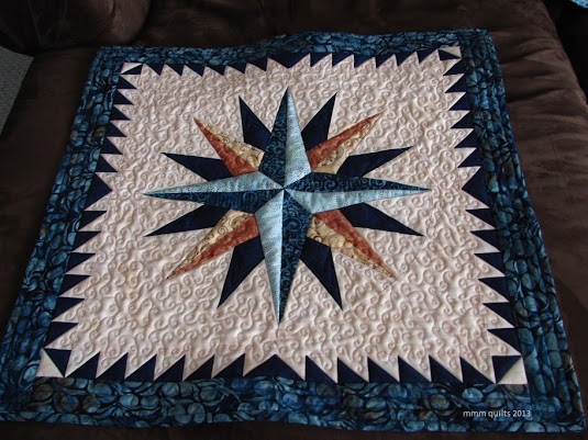 Mariner's Compass Quilt by Michelle of mmm Quilts, The Pattern designed by Brenda Henning of Bearpaw Productions