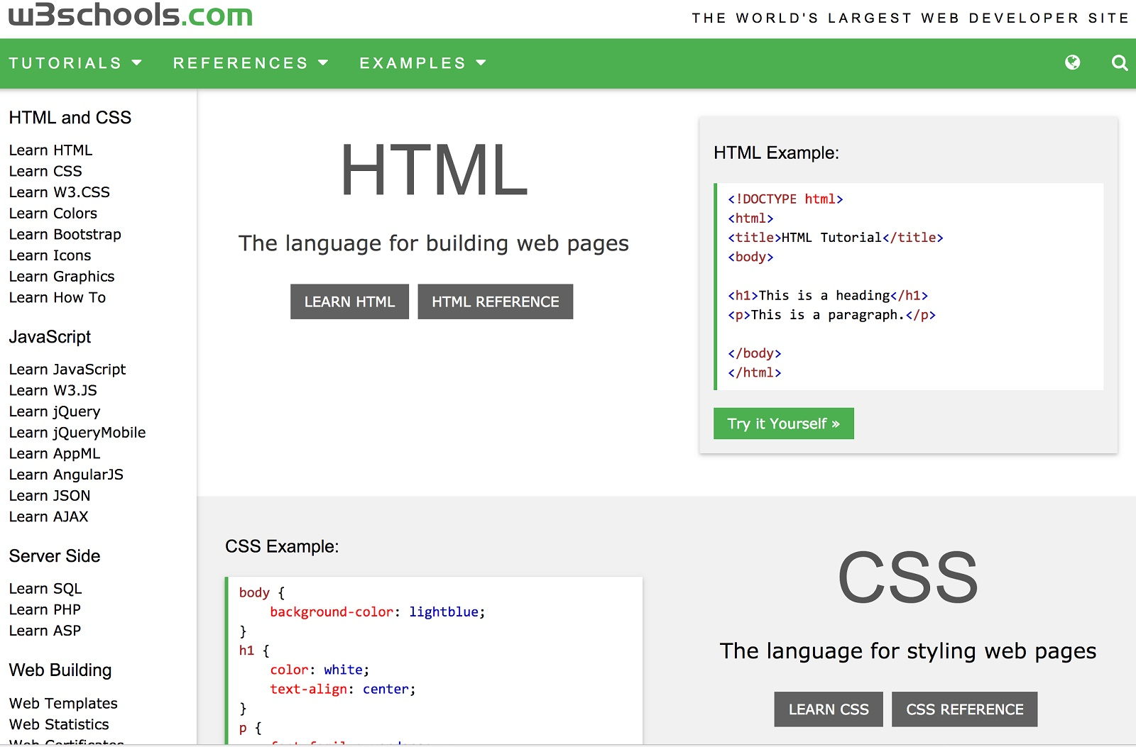7 W3Schools Online Tutorials On Programming Languages