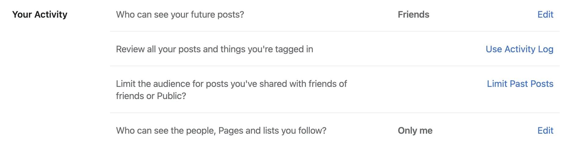اجعل ملف تعريف Facebook خاصًا بنشاطك