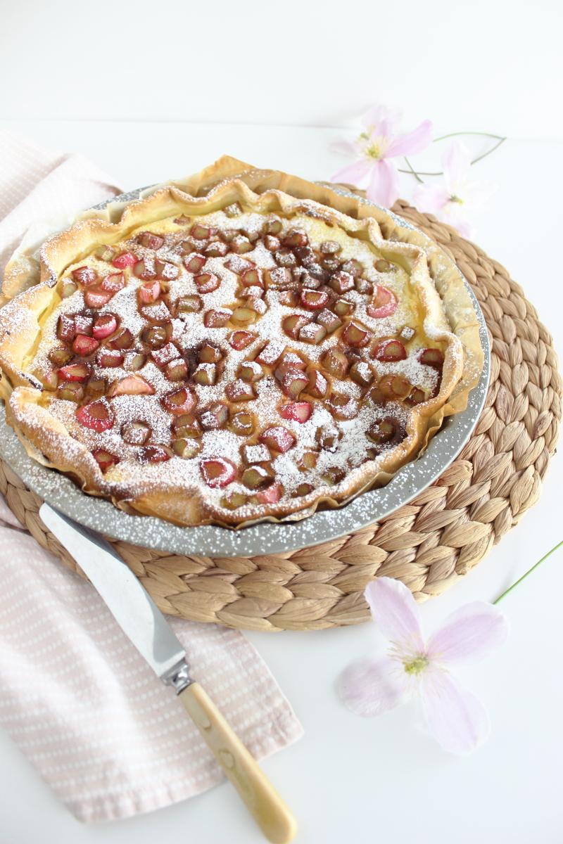 Käsekuchen Tarte mit Rhabarber, Backen, Kuchen, Brisée Teig, Briseteig, französischer Mürbeteig, Rezept kebo homing Südtiroler Food- und Lifestyleblog