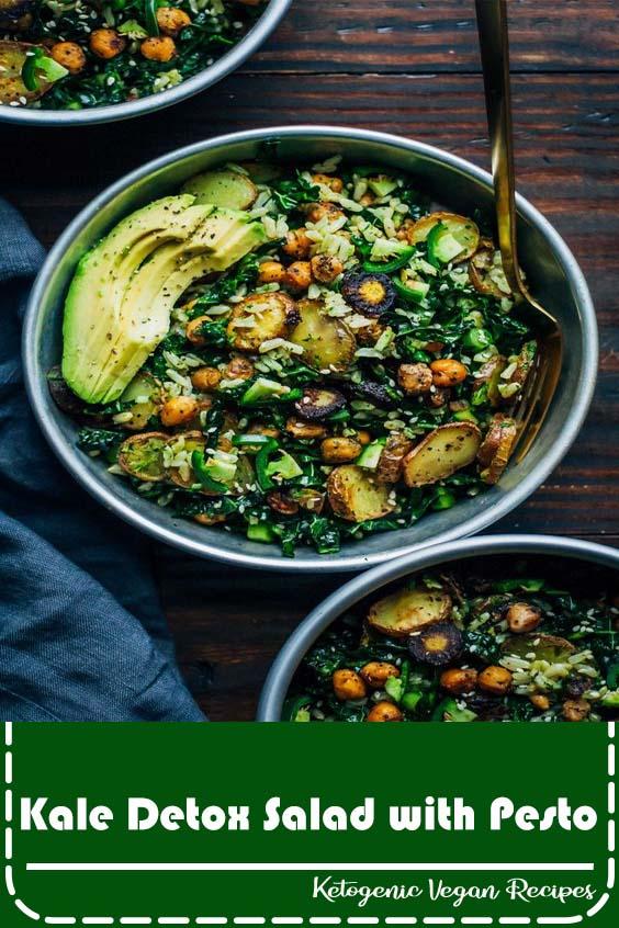 Kale Detox Salad with Pesto
