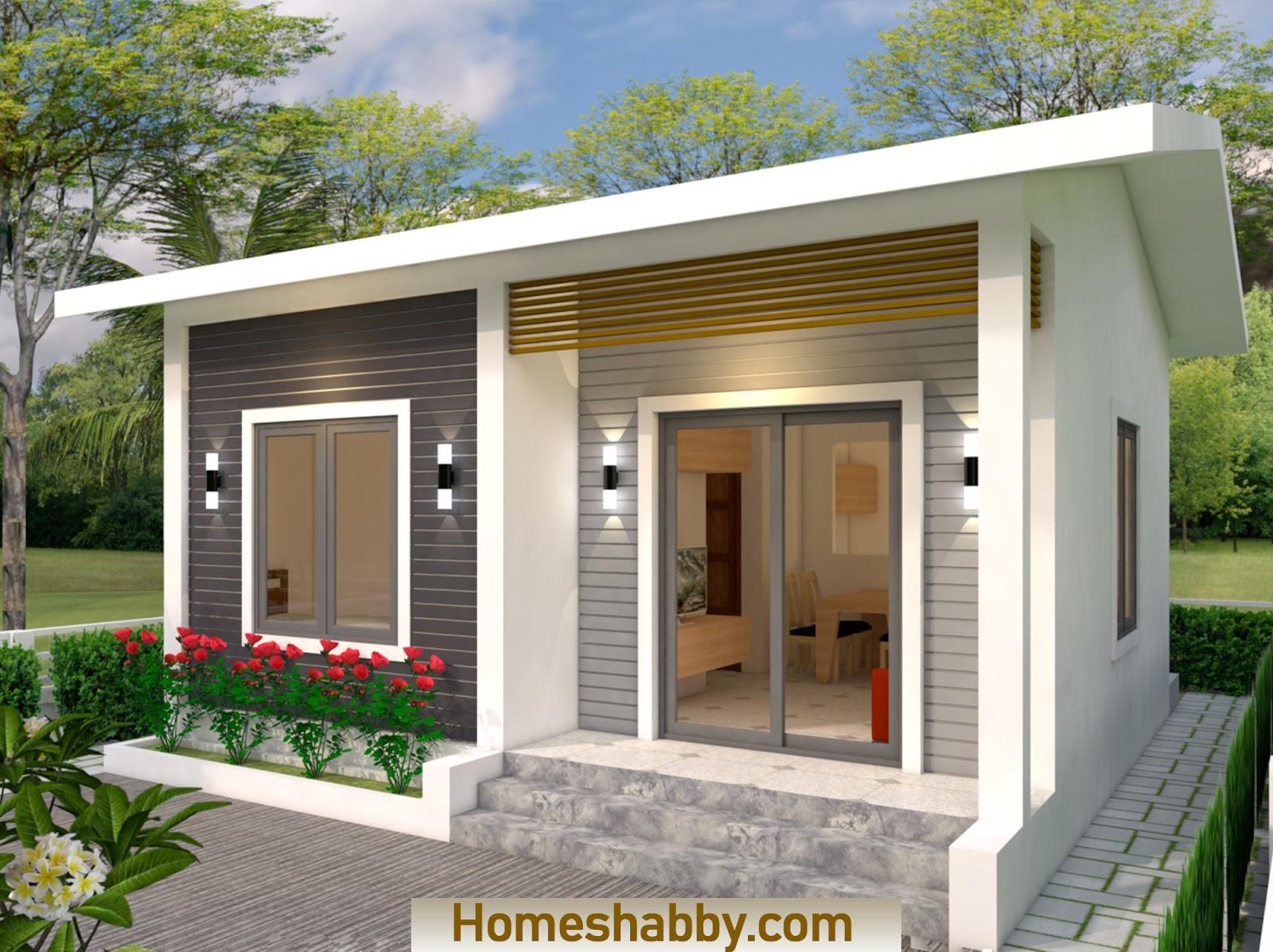 desain rumah mungil 1 lantai 2 kamar tidur