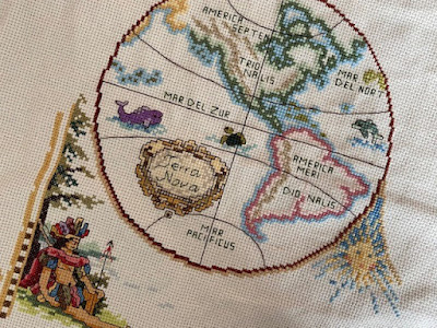 Janlynn Olde World Map cross stitch kit review