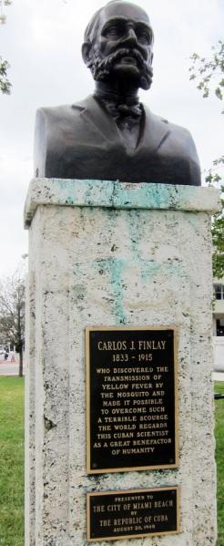 Monumento: Busto de Carlos Juan Finlay