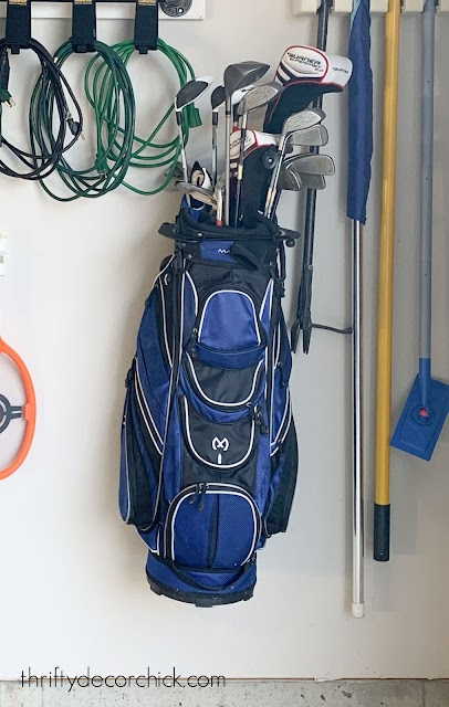 golf bag wall hanger