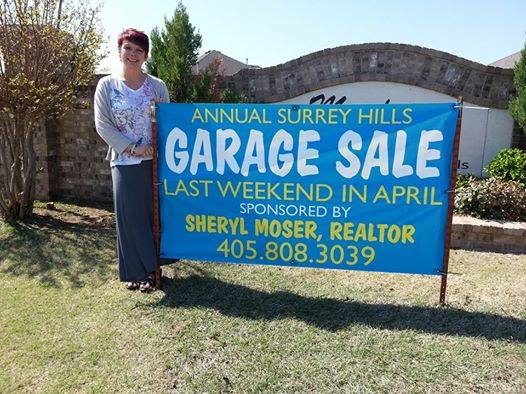 Realtor Sheryl Moser, Surrey Hills Garage Sale Sponsor