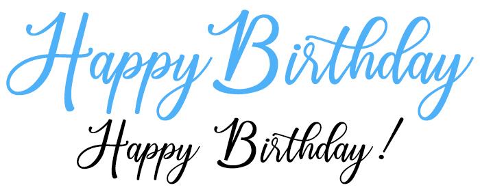 Happy Birthday Free Font