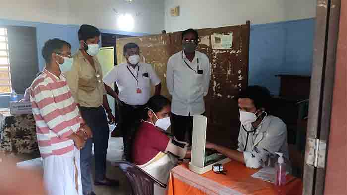 The Challengers Arts and Sports Club organized a free health screening camp