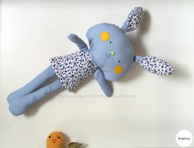easter bunny rag doll