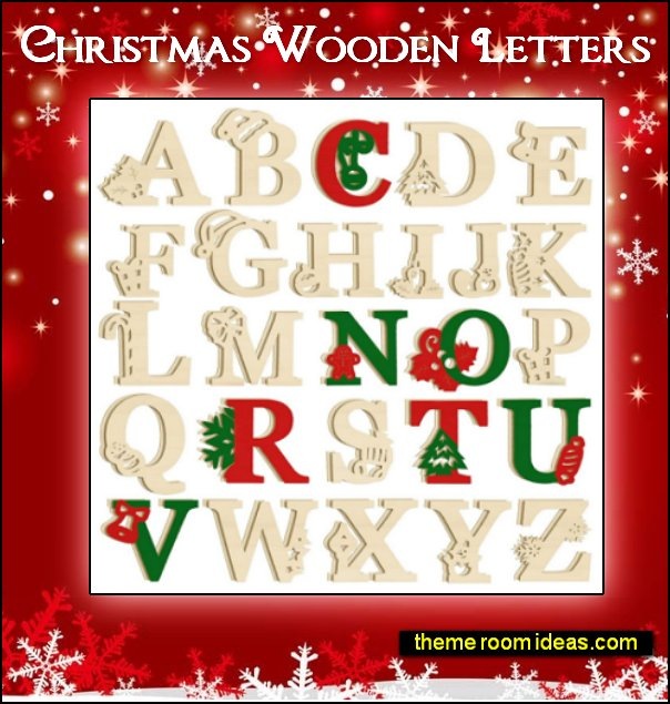 Christmas Wooden Letters Christmas wall decorations Christmas decorations