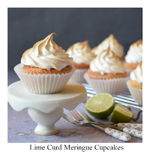 Inspired by the classic lemon meringue pie, our Lime Curd Meringue Cupcakes are equally delicious.  A homemade lime curd fills the centre of the cupcakes which are then topped with an Italian Meringue before they're briefly toasted to give a tempting colour to the meringue frosting.