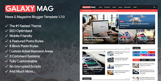 GalaxyMag blooger theme free download