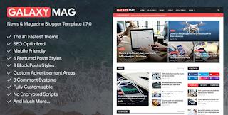 GalaxyMag blooger theme free download