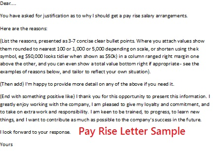 how to write salary increment letter – Pay Raise Letter