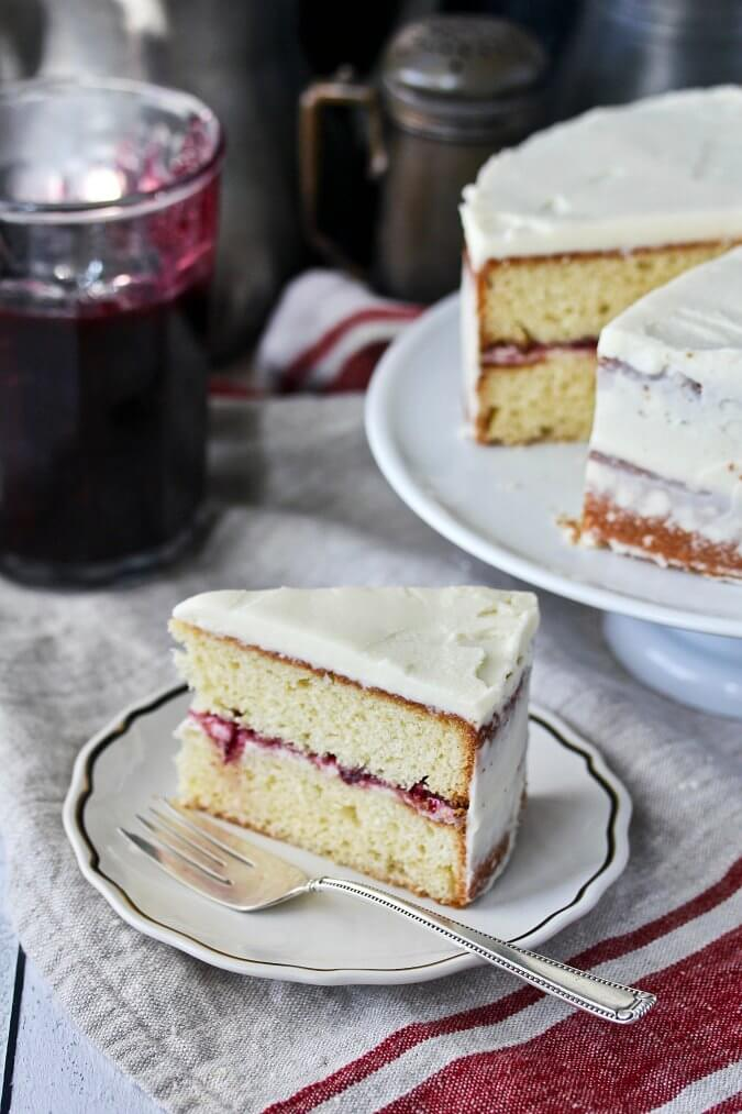 Cardamom Cake with Mulled Wine Jam