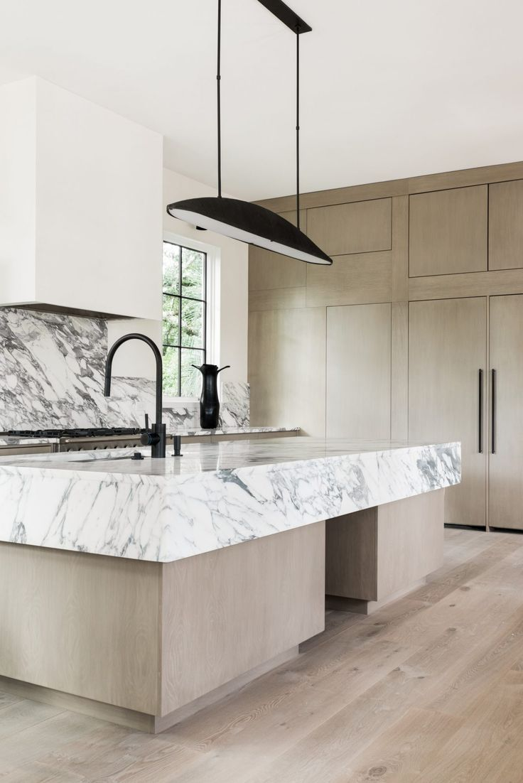 great kitchen interior design with use a marble