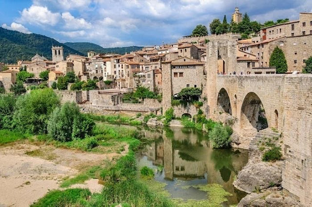 The village of Besalú is located in Catalonia