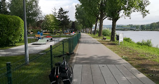 Minigolf on the Esplanade de la Moselle in Remich, Luxembourg