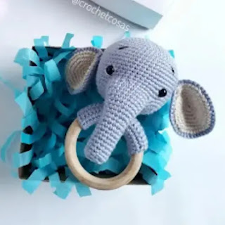 Sonajero Elefante a crochet