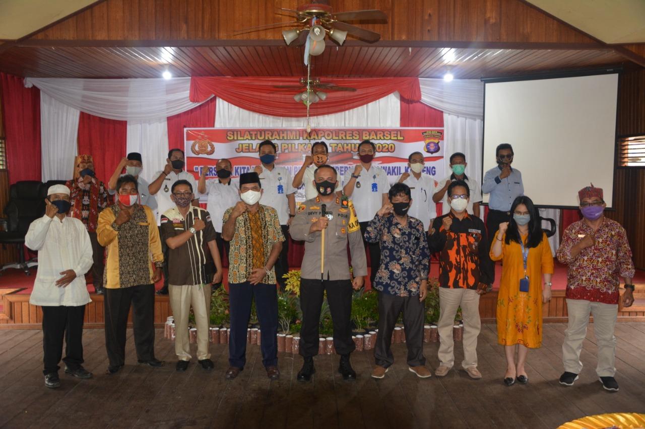 Gelar Silaturahmi Dengan Para Tokoh, Kapolres Barsel: Mari Kita Wujudkan Pilkada Damai dan Kondusif