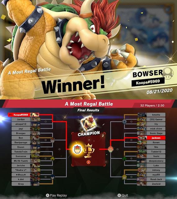 King Bowser Koopa A Most Real Battle event tourney Super Smash Bros. Ultimate winner champion