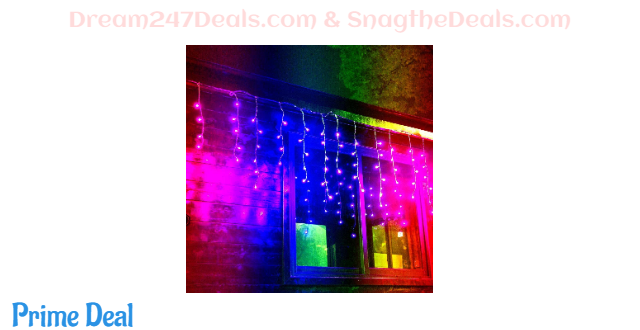 Color changing curtain icicle lights 30% OFF