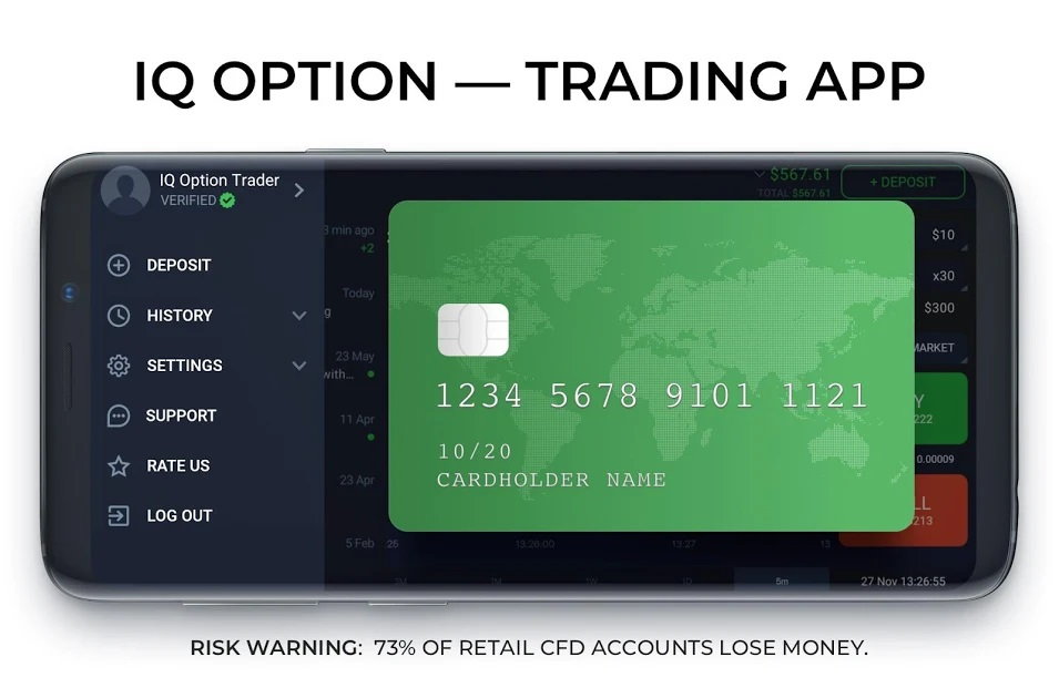IQ Option platform provides clients with an opportunity to trade 500+ assets: including Forex, CFDs on Indices, Commodities and Stocks.