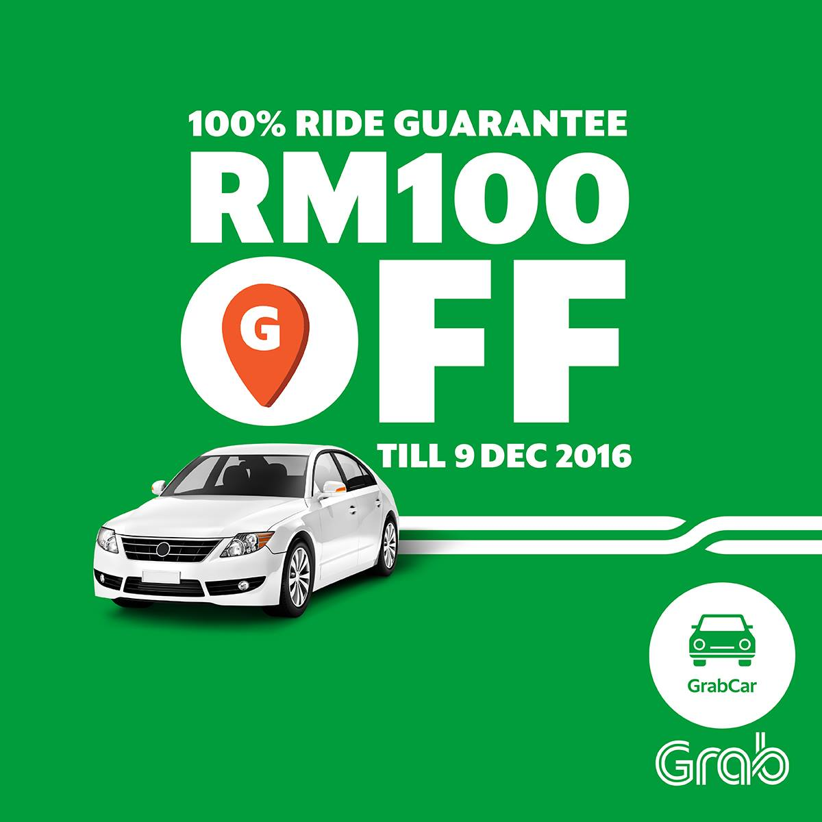 GrabCar RM5 Off 20 Rides Promo Code Klang Valley Weekdays