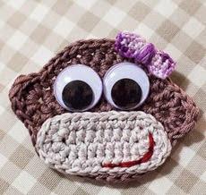 http://www.loopsan.com/crochet/cheeky-monkey-badge-free-pattern/
