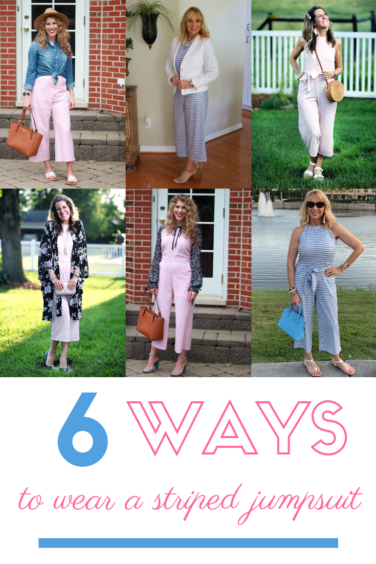 6 Ways to Wear a Striped Jumpsuit & Confident Twosday Linkup