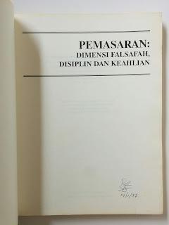 Pemasaran: Dimensi Falsafah, Disiplin dan Keahlian