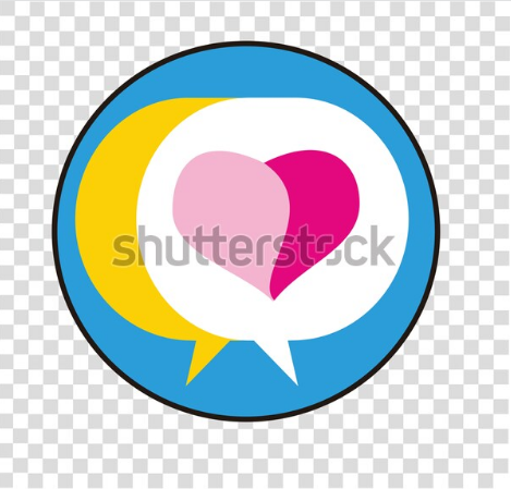 illustration art logo chating