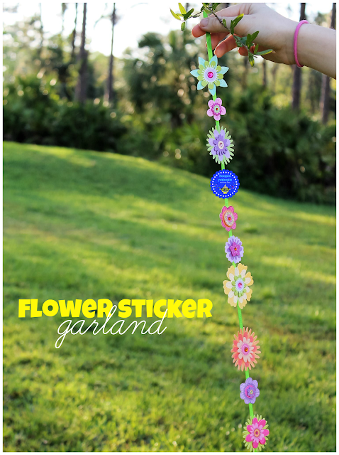 flower sticker garland