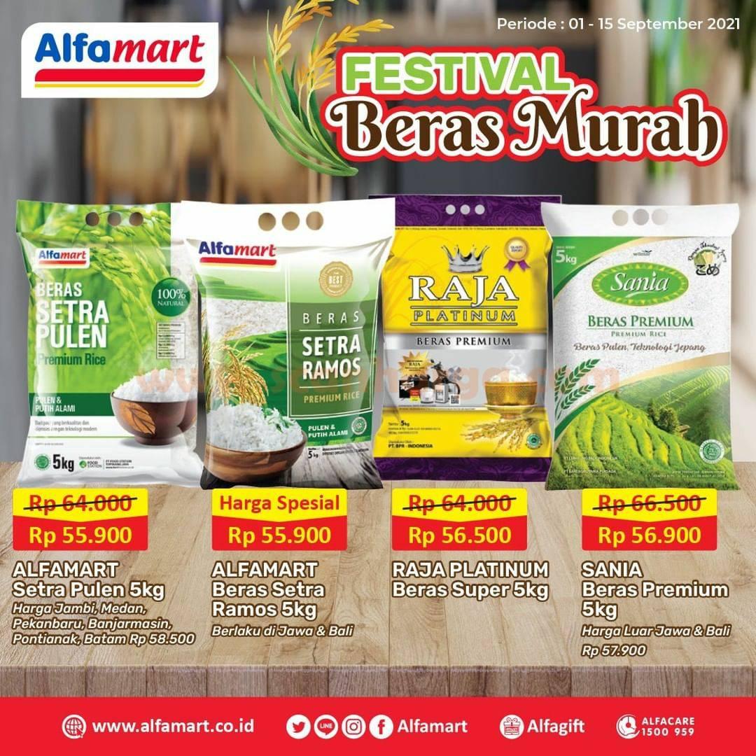 ALFAMART Promo Festival Beras Murah Periode 1 - 15 September 2021