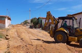 Prefeito Olivânio Remígio autoriza a pavimentação de duas ruas no bairro São José