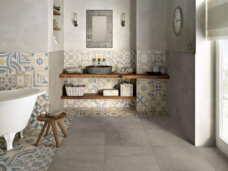 Pavimenti e rivestimenti in colore pastello sbiadito per lo stile shabby chic