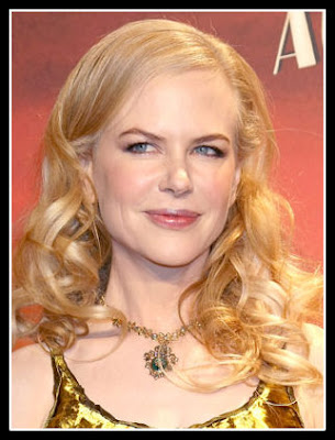 Nicole Kidman: Diamond face shape with Curved/ S-Shape Eyebrows