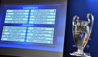 Jadwal Play off Liga Champions 2017-2018