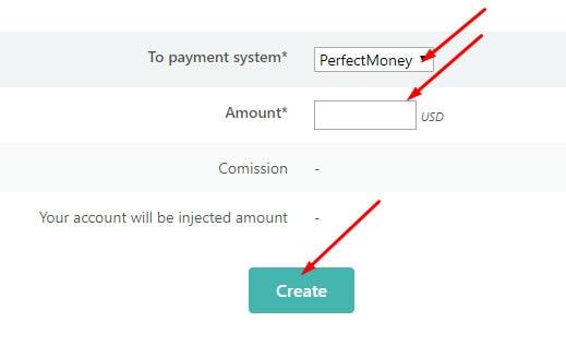 Вывод средств в Financy 2