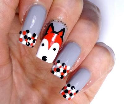 Fox Nail Design Tutorial