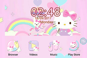Oppo Theme:Oppo F3 Hello Kitty Pastel Theme