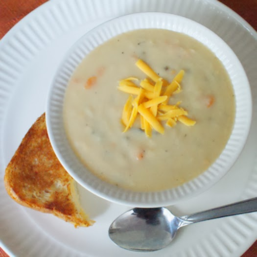 Skinny Beer Cheese Soup image